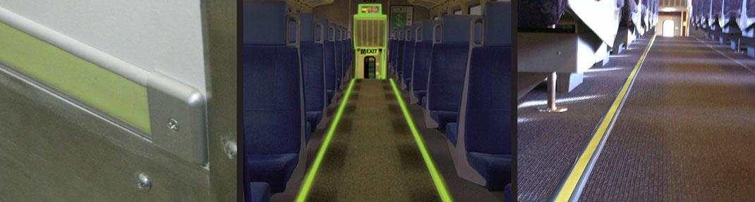 Marcado de ruta de salida luminosa fabricado e instalado por INPS Transit